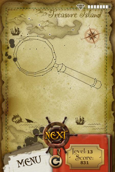 Pictorial Solution: 13 Level Treasure Island