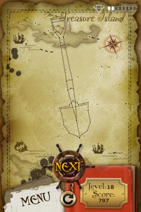 Pictorial Solution: 18 Level Treasure Island