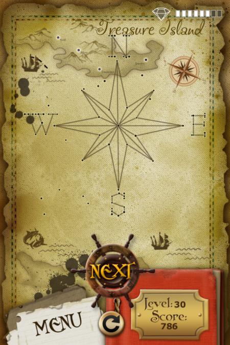 Pictorial Solution: 30 Level Treasure Island