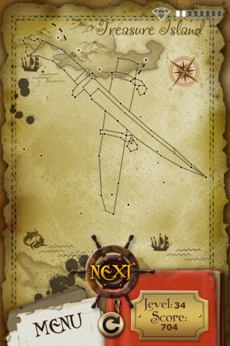 Pictorial Solution: 34 Level Treasure Island