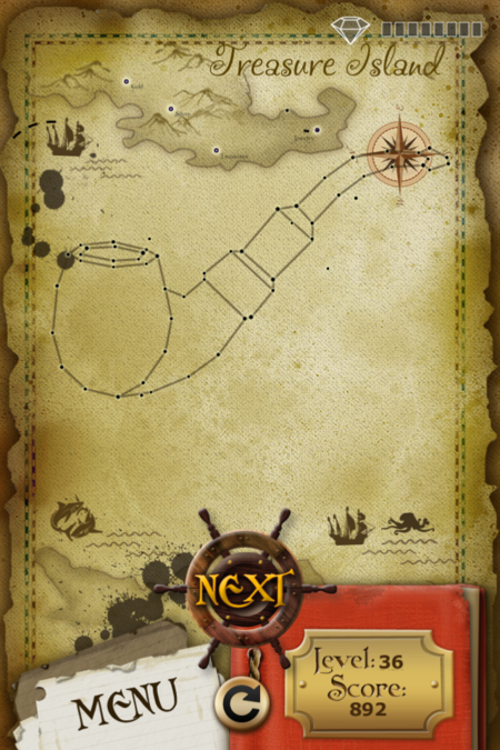 Pictorial Solution: 36 Level Treasure Island