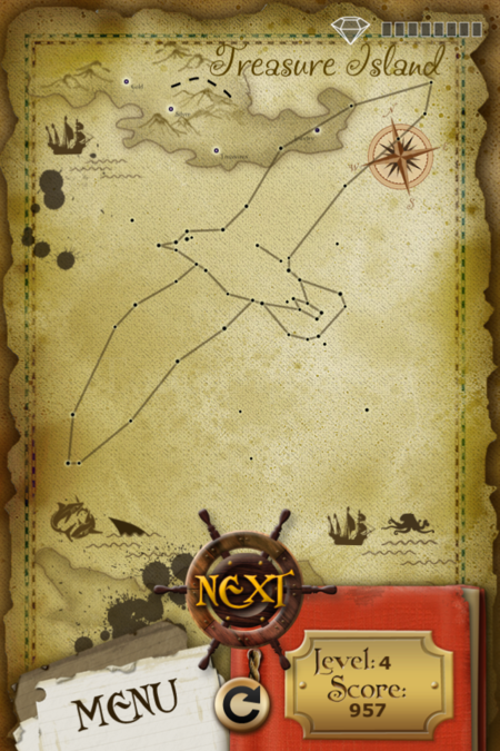 Pictorial Solution: 4 Level Treasure Island
