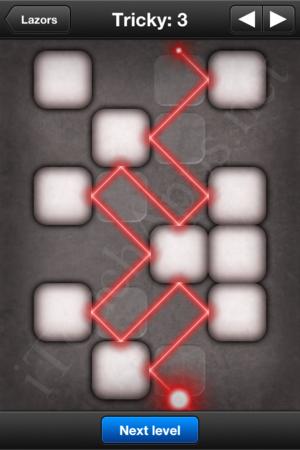 Lazors Tricky 3 Solution