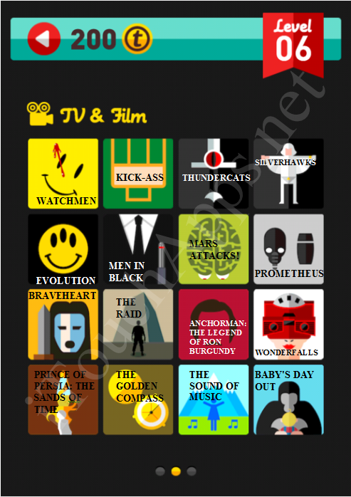 Icon Pop Quiz TV & Film Quiz Level 6 Part 2 Answers / Solutions