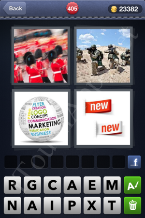 4 Pics 1 Word Level 405 Solution