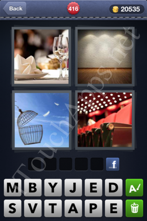 4 Pics 1 Word Level 416 Solution