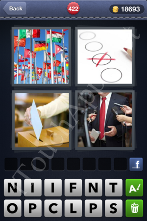 4 Pics 1 Word Level 422 Solution