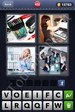 4 Pics 1 Word Level 432 Solution