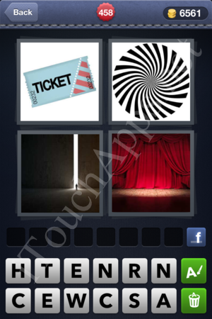 4 Pics 1 Word Level 458 Solution