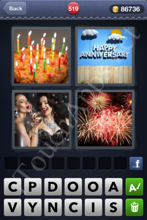 4 Pics 1 Word Level 519 Solution