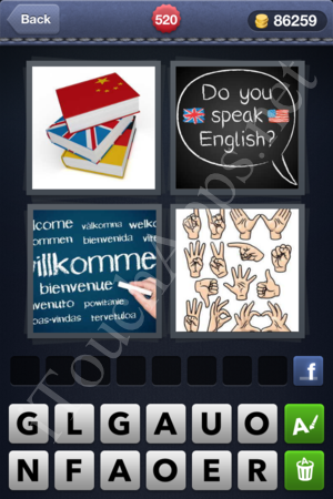 4 Pics 1 Word Level 520 Solution
