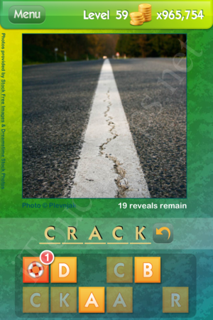 Level 59 Answer: CRACK.