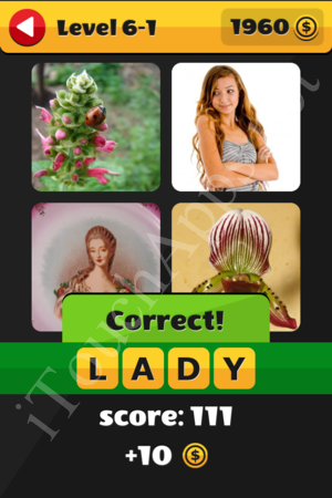 What's That Word Level 6-1 Solution