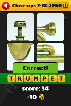 What's That Word Close-ups Level 1-18 Solution