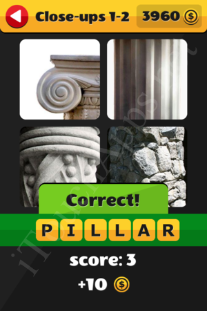 What's That Word Close-ups Level 1-2 Solution