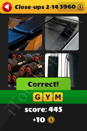 What's That Word Close-ups Level 2-14 Solution