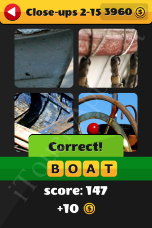 What's That Word Close-ups Level 2-15 Solution
