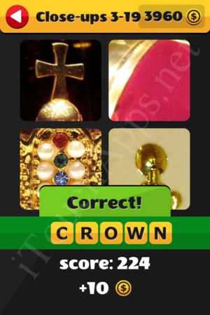 What's That Word Close-ups Level 3-19 Solution