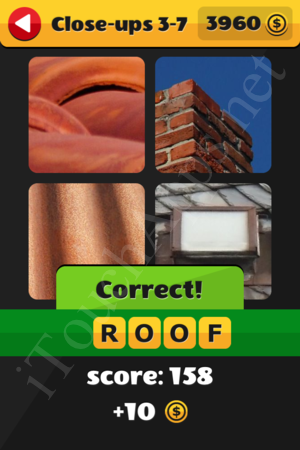 What's That Word Close-ups Level 3-7 Solution