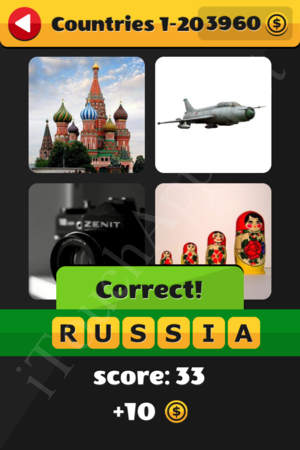 What's That Word Countries Level 1-20 Solution