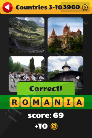 What's That Word Countries Level 3-10 Solution