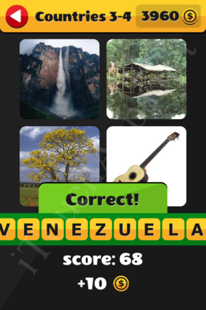 What's That Word Countries Level 3-4 Solution