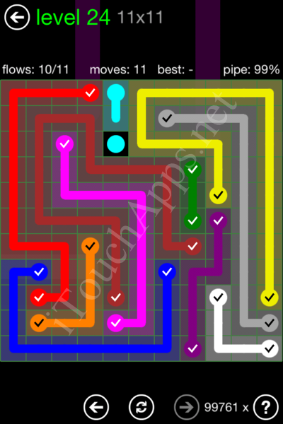 Flow Game 11x11 Mania Pack Level 24 Solution