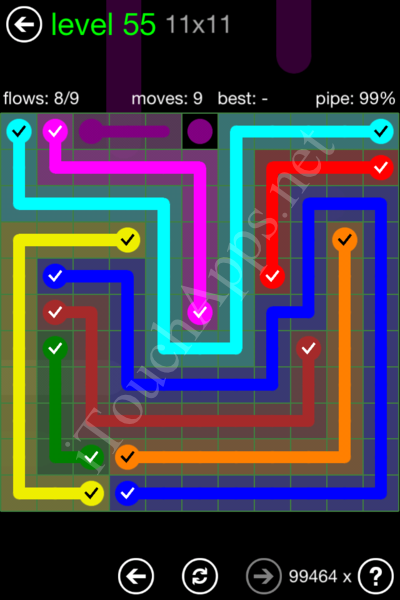 Flow Game 11x11 Mania Pack Level 55 Solution