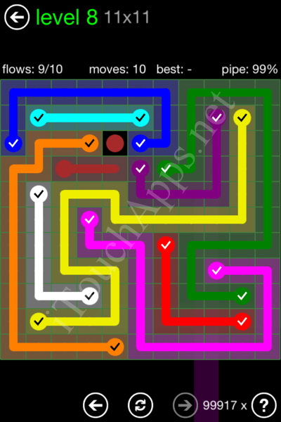 Flow Game 11x11 Mania Pack Level 8 Solution