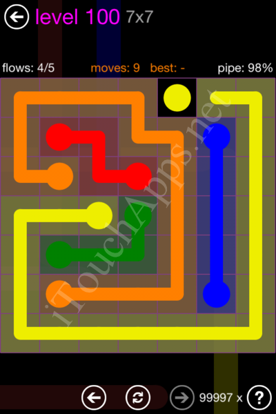 Flow Game 7x7 Mania Pack Level 100 Solution