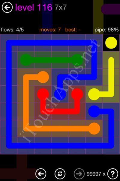 Flow Game 7x7 Mania Pack Level 116 Solution
