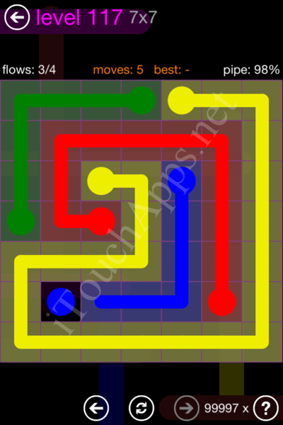 Flow Game 7x7 Mania Pack Level 117 Solution
