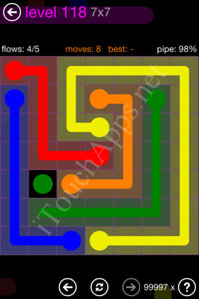 Flow Game 7x7 Mania Pack Level 118 Solution