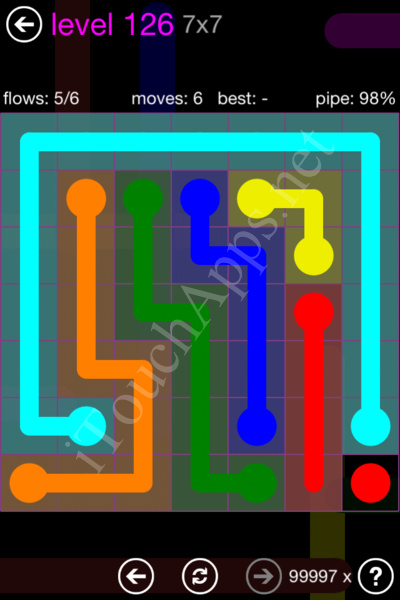 Flow Game 7x7 Mania Pack Level 126 Solution