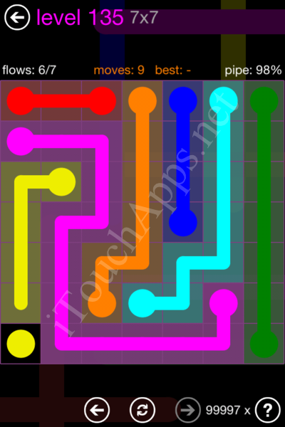 Flow Game 7x7 Mania Pack Level 135 Solution