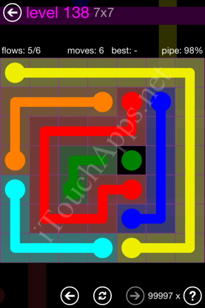 Flow Game 7x7 Mania Pack Level 138 Solution