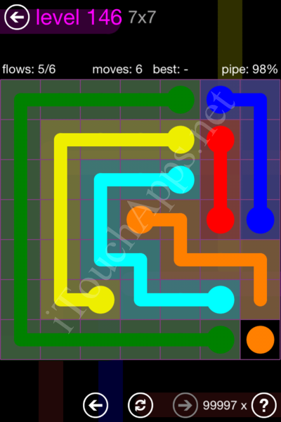Flow Game 7x7 Mania Pack Level 146 Solution