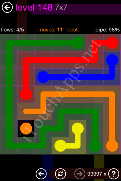 Flow Game 7x7 Mania Pack Level 148 Solution