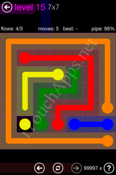 Flow Game 7x7 Mania Pack Level 15 Solution