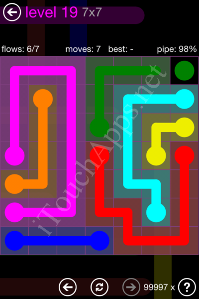 Flow Game 7x7 Mania Pack Level 19 Solution
