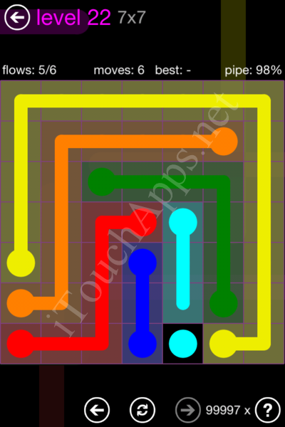 Flow Game 7x7 Mania Pack Level 22 Solution