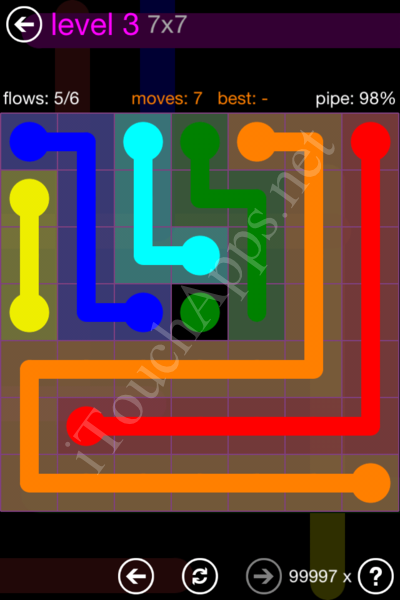Flow Game 7x7 Mania Pack Level 3 Solution