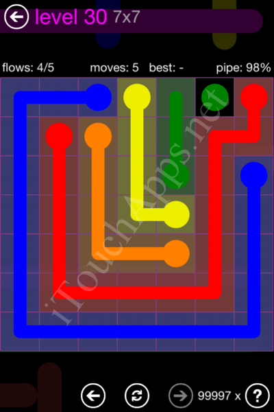 Flow Game 7x7 Mania Pack Level 30 Solution