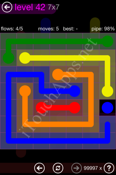 Flow Game 7x7 Mania Pack Level 42 Solution