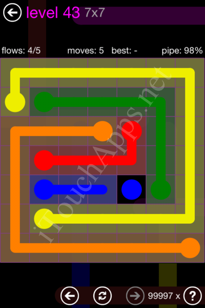 Flow Game 7x7 Mania Pack Level 43 Solution