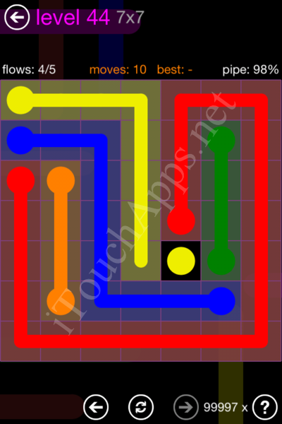 Flow Game 7x7 Mania Pack Level 44 Solution