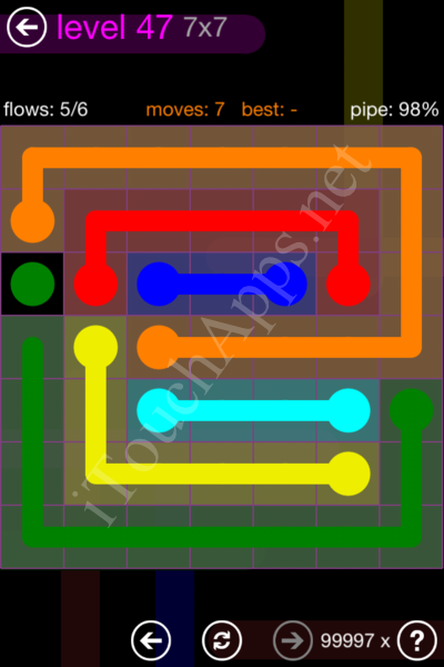 Flow Game 7x7 Mania Pack Level 47 Solution