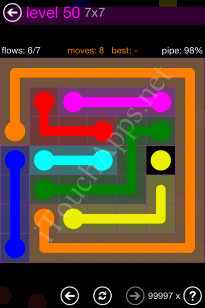 Flow Game 7x7 Mania Pack Level 50 Solution