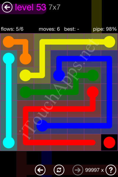 Flow Game 7x7 Mania Pack Level 53 Solution