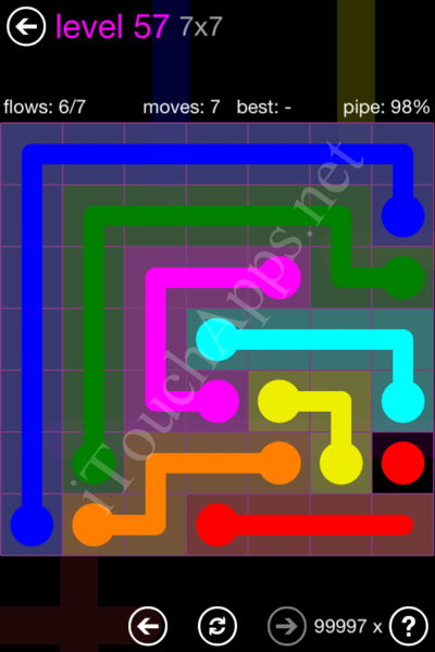 Flow Game 7x7 Mania Pack Level 57 Solution